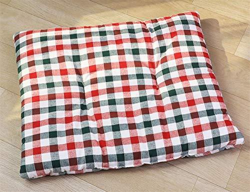Xinjiener Hundekissen Pet Kissen Hund Katze Bett Soft Warm Schlafmatte (Rot und Grün, M)