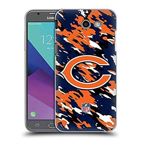 Official NFL Camou Chicago Bears Logo Hard Back Case for Samsung Galaxy J3 Emerge