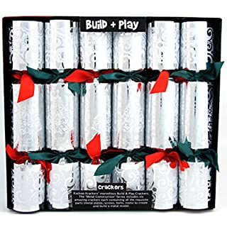 6 Build and Play Christmas Crackers (Metal Construction Series)