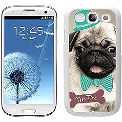 Funda carcasa TPU Gel para Samsung Galaxy S3 diseño pug