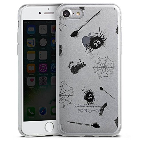 Apple iPhone 6 Slim Case Silikon Hülle Schutzhülle Halloween Muster Spinne Silikon Slim Case transparent