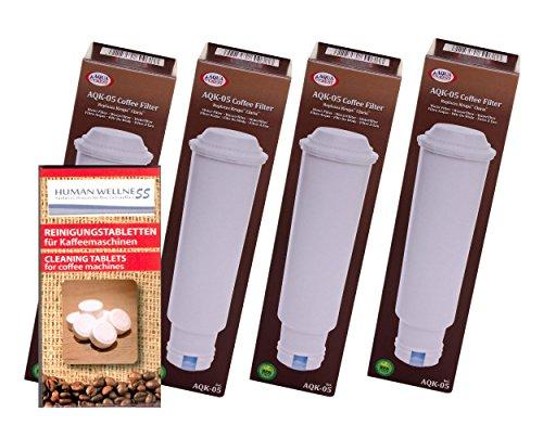 4 x Filterpatrone für alle Melitta Kaffeevollautomaten + 10 Reinigungstabletten