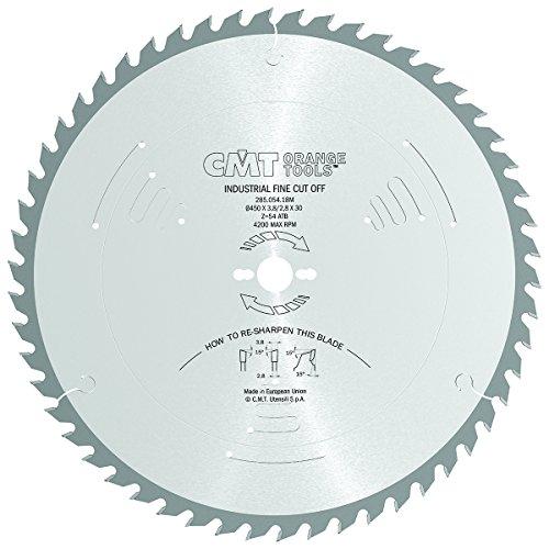 CMT Orange Tools Kreissägeblatt HW 450 x 3,8 / 2,8 x 30 Z=54 15° ATB - 285.054.18M - für Querschnitte