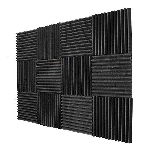 TOOGOO 12 Pack- acusticos paneles espuma