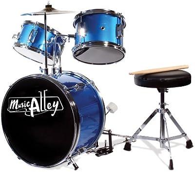 Music Alley Junior - Batería infantil, color azul