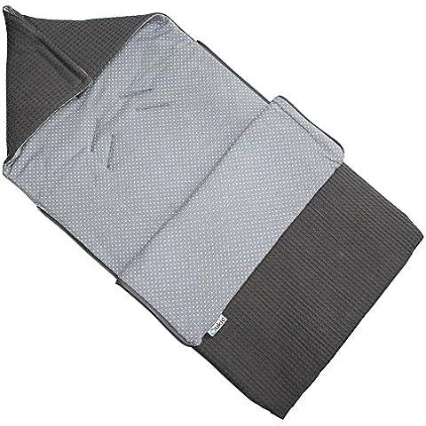 Saco para portabebés maxi-cosi–Tela cuadriculada–Gris