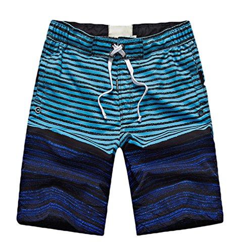 Niseng Herren Badeshorts Beachshorts Boardshorts Badehose Sommer Strand Shorts Dunkelblau