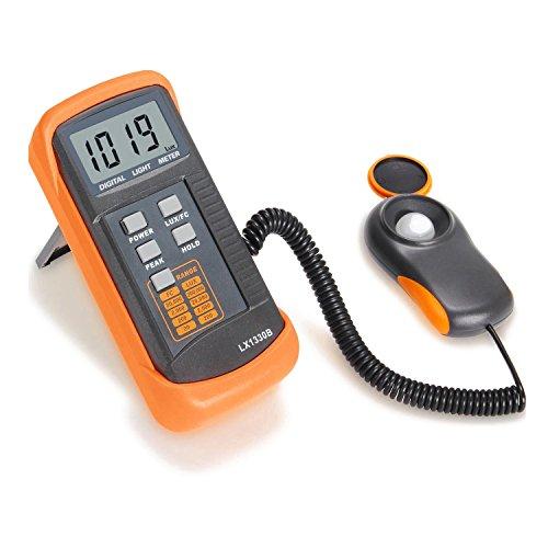 Digitales Photometer - TOOGOO(R)Digitales Photometer/ Lichtmeter LX1330B, 0 - 200.000 Lux Luxmeter Schwarz + Orange Test