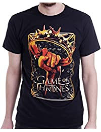 Official T Shirt GAME OF THRONES Stark CROWN Logo