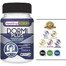 Melatonina Pura 100% + L-Teanina bioasimilada + Vitamina B6 de alta solubilidad - Para una rápida conciliación del sueño - 8 horas de sueño natural y ...