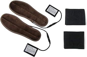 NBWS USB Wiederaufladbare Heizung Warme Einlegesohlen,Beheizbare Einlegesohlen Akkubetrieb, waschbar Warm 10 Stunden Winter Outdoor Jagd, Angeln, Wandern, Camping, Bergsteigen