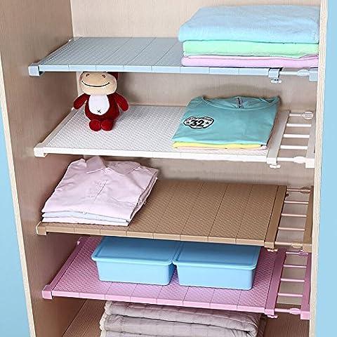 VANCORE Regalböden verstellbar, zur weiteren Unterteilung von Kleider- und Wandschränken und Regalen, weiß, Length Stretch (24 Wire Shelf)