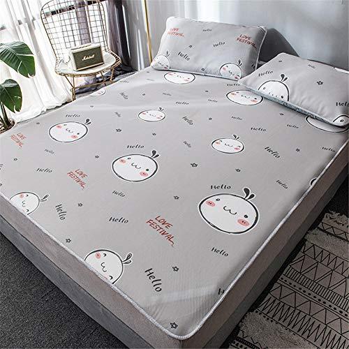 Qiutianchen Eisseidenmatte Klimaanlage Eisseidenmatte dreiteilige High-End-Falteisseidenmatte Einer Generation@Kleines Mädchen_1,2 m Bett (Zwei Sätze) -