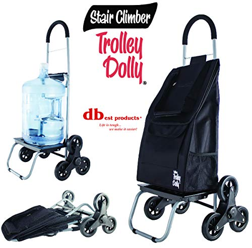 Trolley Dolly Treppensteiger, schwarz Lebensmittels faltbar Warenkorb Apartment Wohnungs
