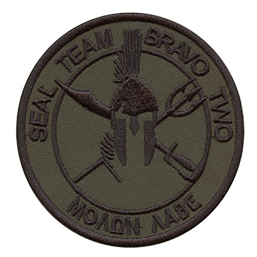 2AFTER1 Olive Drab OD Seal Team Two ST2 Bravo Molon Labe DEVGRU NSWDG Fastener Patch Seal Team 2 Patch
