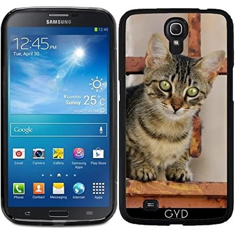 Funda para Samsung Galaxy Mega 6.3 GT-I9205 - Lindo Gatito En La Puerta De Hierro Oxidado by Katho Menden