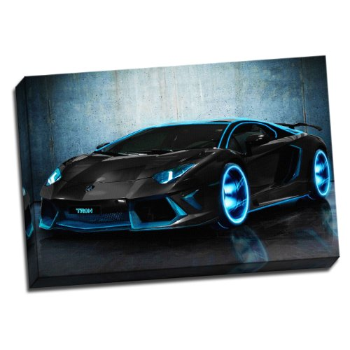 large-lamborghini-aventador-tron-framed-canvas-picture-wall-art-print-20x30-inches-a1