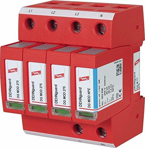Dehn+Söhne 952310 ÜS-Ableiter DEHNguard DG M TT 275 230/400V,IP20,Typ2 Überspannungsableiter für Energietechnik/Stromversorgung 4013364108479