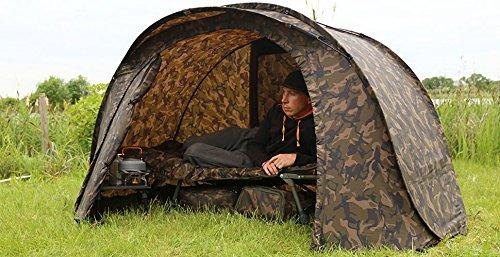 Fox Easy Shelter Camo Karpfenzelt, Angelzelt, Schnellaufbau-Zelt, Anglerzelt Tarnfarbe, Pop Up Zelt