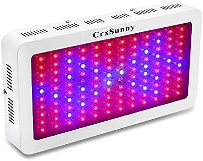 CrxSunny 1200W Lampara LED Grow Light para Plantas de Interior Iluminación Cultivo Plantas Crecimiento y Floracion en Culture Cabinet