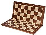 SQUARE - Pro Schachbrett Nr. 5 - Mahagoni SK - Faltbar - Feld 50 mm - Schachspiel aus Holz