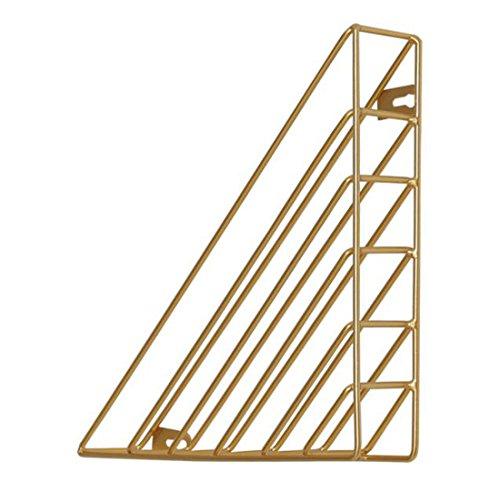 DECJ Kreative Wand Wand-Racks Schmiedeeisen Dreieck Bücherregal Display-Ständer Kann Wand Dekoration Sein Senden Sie Zwei Nagel,Metallic