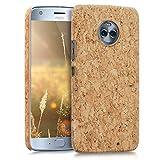 kwmobile Motorola Moto X4 Hülle - Handyhülle für Motorola Moto X4 - Handy Case Kork Cover Schutzhülle