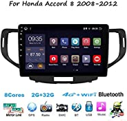 Android 10.0 Auto Stereo Radio Double Din Sat NAV für Honda Accord 8 2008-2012 GPS Navigation 9 Zoll Touchscre