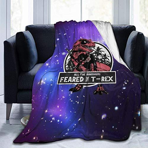 lanjiangbaih Starry Sky All The Dinosaurs Feared The T-Rex Manta Super Suave para sofá Cama, niños y Adultos de 80 x 60 Pulgadas, Ver Imagen, 80x60 Inch