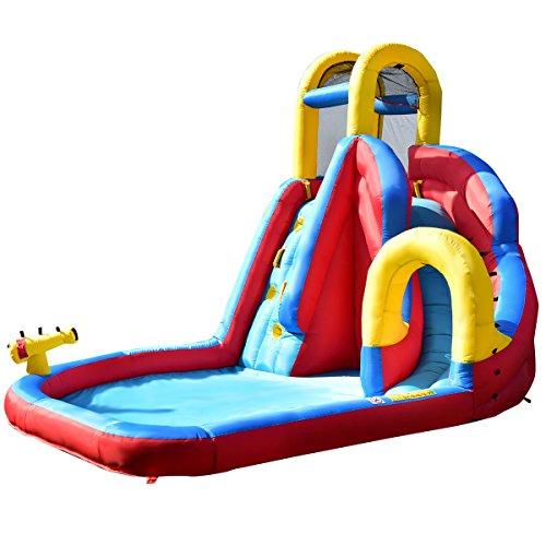 GYMAX Kids Bouncy Castle Large Inflatable Moonwalk House Water Slide Jumper Outdoor
