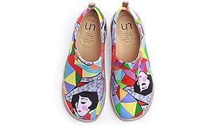 UIN Mujer Mocasines Plataforma Casual Loafers Plano Casual Cómodo y Antideslizante Zapatillas para Mujer Zapatos del Barco
