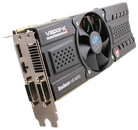 Sapphire 21161-03-50R 1G GDDR5 Carte graphique VAPOR-X HD5870 PCI-E DUAL DVI-I / HDMI / DP OC VERSION (ROHS)