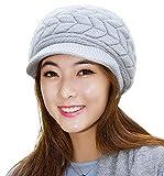 Devil Women's|Girl's Winter Warm Knit Hat Wool Snow Ski Caps With Visor