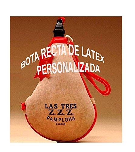 Bota de vino Las Tres ZZZ con el interior de látex forma recta, está fabricada a mano con piel de cabra de primera calidad, limpia de manchas y cortes, curtida vegetalmente siguiendo un proceso artesanal. Costura de la bota reforzada. Hecha en España...