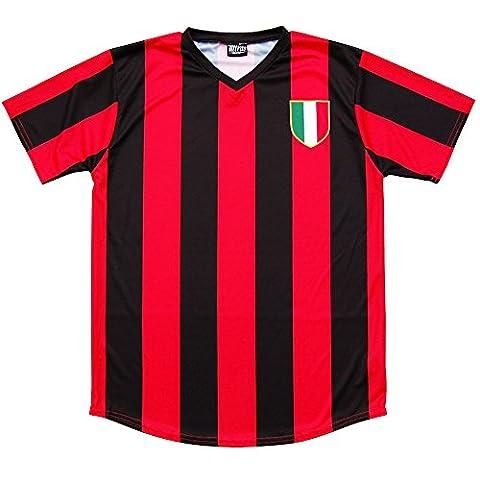 AC Milan Retro # 10Fußball Jersey Gr. xxxxl, Mehrfarbig - Rot/Schwarz