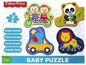 Trefl Baby - Puzzle 4 en 1 Modelo Fisher-Price Los Animales 2 Piezas, 36081, Multicolor