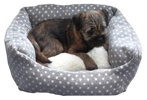 Rosewood 03070 40 Winks Bett für kleinen Hund oder Katze, grau/Creme gepunktet, Länge: 41cm