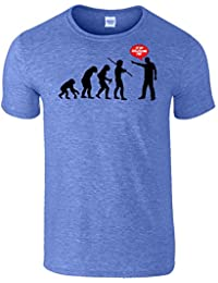 Evolution Stop Following Me Drôle Pour des hommes T-Shirt