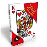Eurosell Größe L Senioren Riesen große Spielkarten Deko Poker Casino Kartenspiel gross