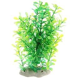 SODIAL (R) Gruen Gefaelschte Plastik Wasserpflanzen fuer Aquarium Ornament