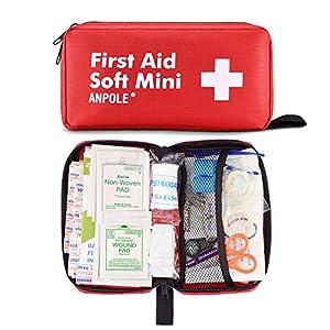 Anpole Erste Hilfe Set, Kompakt First Aid Kit, Wasserdichte Medizinische Notfalltasche Drinnen Draußen Notfallkoffer für Zuhause, Auto, Camping, Büro, Boot, Wandern, Sport und Reisen