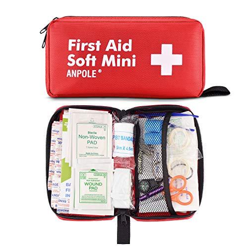 Erste Hilfe Set 202 Stück, Kompakt First Aid Kit, Wasserdichte Medizinische Notfalltasche Drinnen Draußen Notfallkoffer für Zuhause, Auto, Camping, Büro, Boot, Wandern, Sport und Reisen