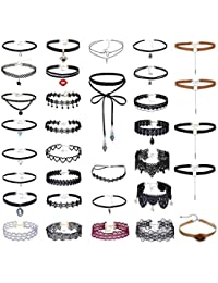 Floweralight Gargantilla Collar Gargantilla Set Collar de Terciopelo Collar de Tatuaje
