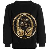 BEZLIT Jungen Pullover Wende Pailletten Sweatshirt Pulli 21456, Farbe:Schwarz, Größe:116
