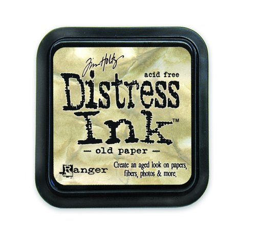Ranger 18780603 Tim Holtz Distress Ink Pad, Old Paper, 7.5 x 7.5 x 3 cm - Papier Distress