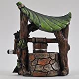Petit puits pour jardin de fée - Décoration miniature - Pour elfe, fée, hobbit - Cadeau magique - Hauteur: 12cm