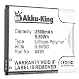 Akku-King Batterie remplace Wiko 5251 - Li-Polymer 2500mAh - pour Wiko Pulp 3G, Pulp 4G, Rainbow Jam 4G, Robby