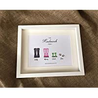 Personalised Welly Family Picture. Family Wellie Picture. Wellie Family. Family Tree Picture.
