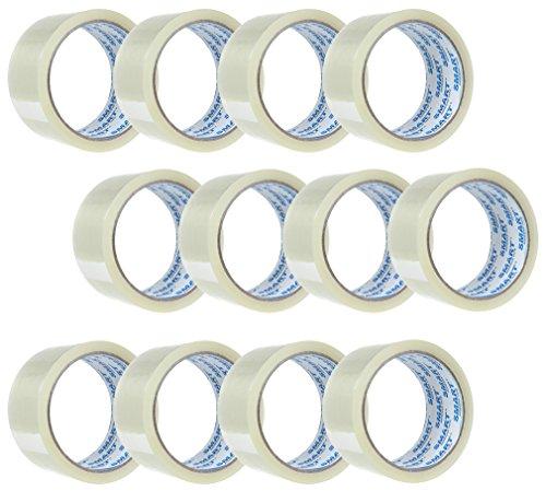 12x Transparent Klebeband für Päckchen und Packete, Paket-Klebeband Echte 48mm x 60m Packband Paketband Paketklebeband
