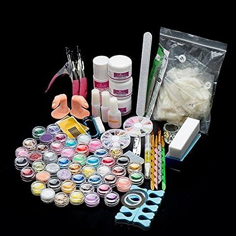 OverDose 29 Acrylique Nail Art Conseils Poudre Liquide Brosse Briller Clipper Primer  Kit de jeu de fichiers